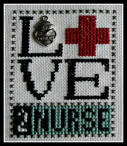 click here to view larger image of Love Bits - Love 2 Nurse (chart with charms/buttons)