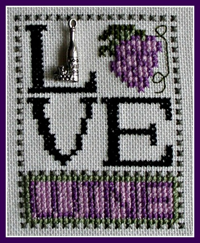 click here to view larger image of Love Bits - Love Wine (chart with charms/buttons)