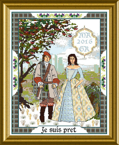 click here to view larger image of Scottish Lovers Tapestry A, The (chart)