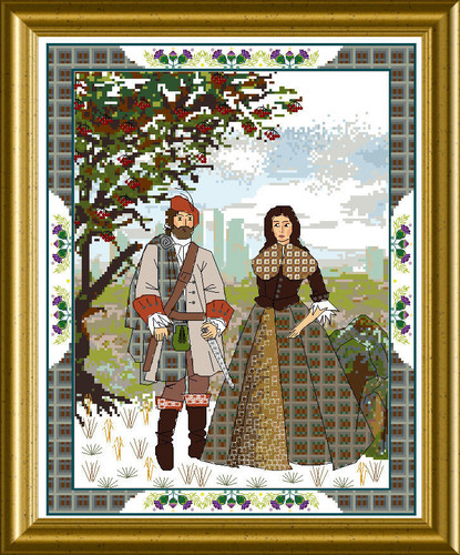 click here to view larger image of Scottish Lovers Tapestry B, The (chart)