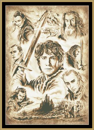 click here to view larger image of Hobbit - Sepia (chart)