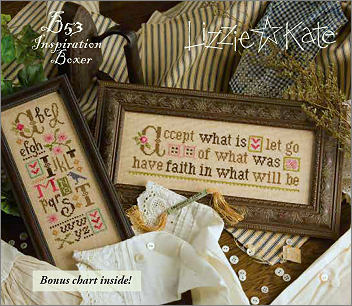 click here to view larger image of Accept What Is - Inspiration Boxer B53 (counted cross stitch kit)