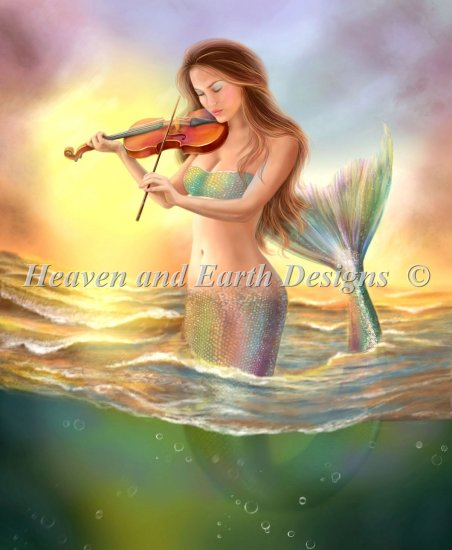 click here to view larger image of Mini Mermaid With A Violin (chart)