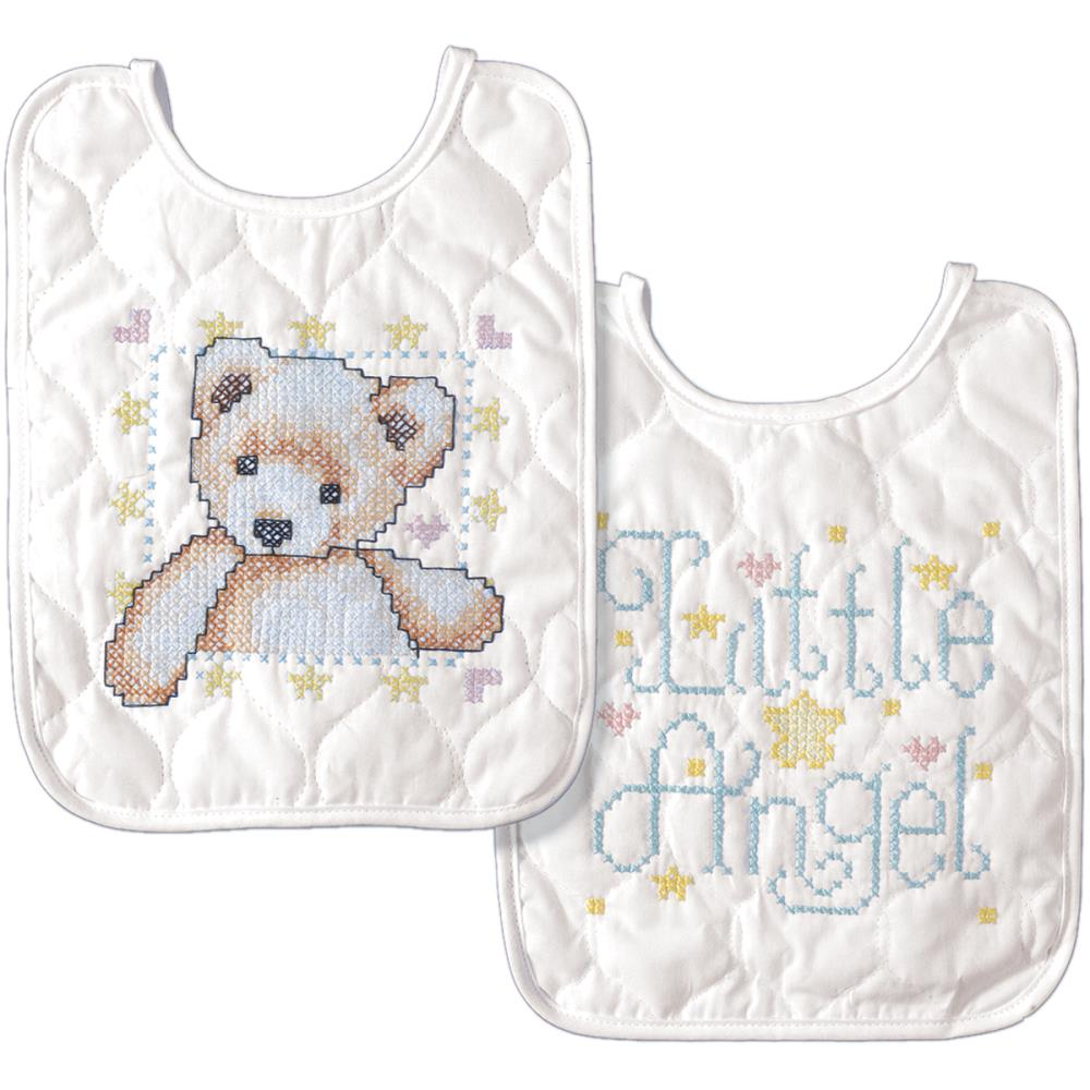 click here to view larger image of Tobin Baby - Set of Two Bibs (stamped bib)