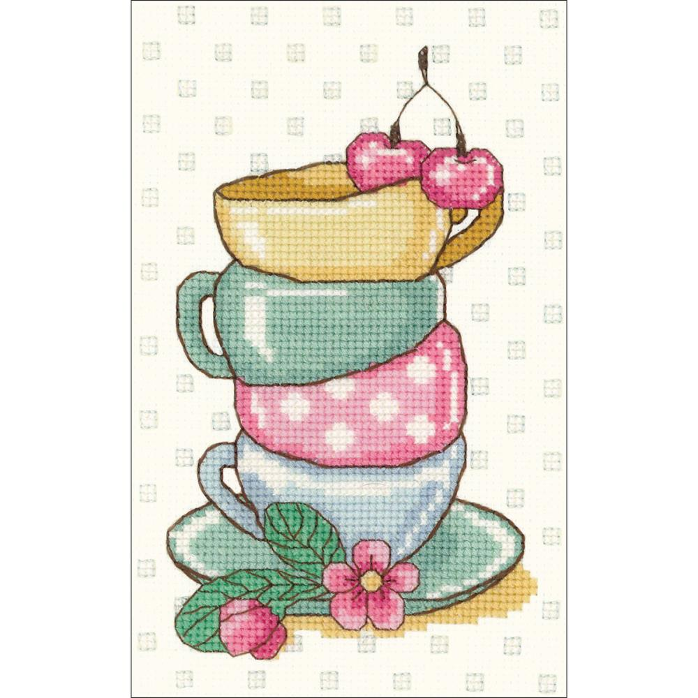 click here to view larger image of Tea Time (counted cross stitch kit)