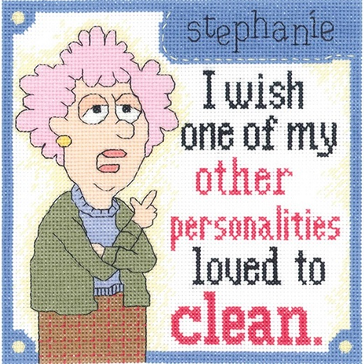 click here to view larger image of Aunty Acid - Other Personalities (counted cross stitch kit)