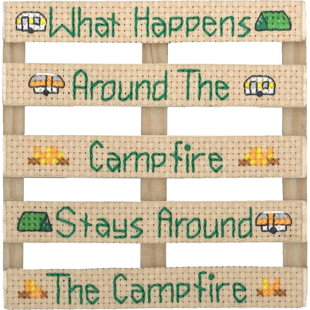 click here to view larger image of Wood Pallet Campfire (counted cross stitch kit)