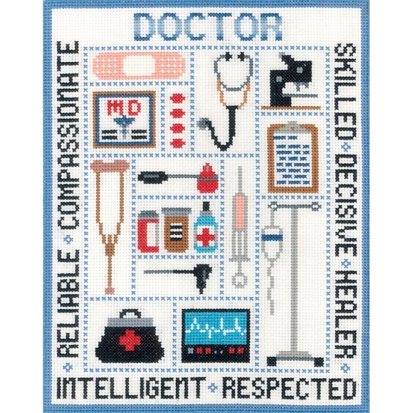 click here to view larger image of Doctor Sampler (counted cross stitch kit)