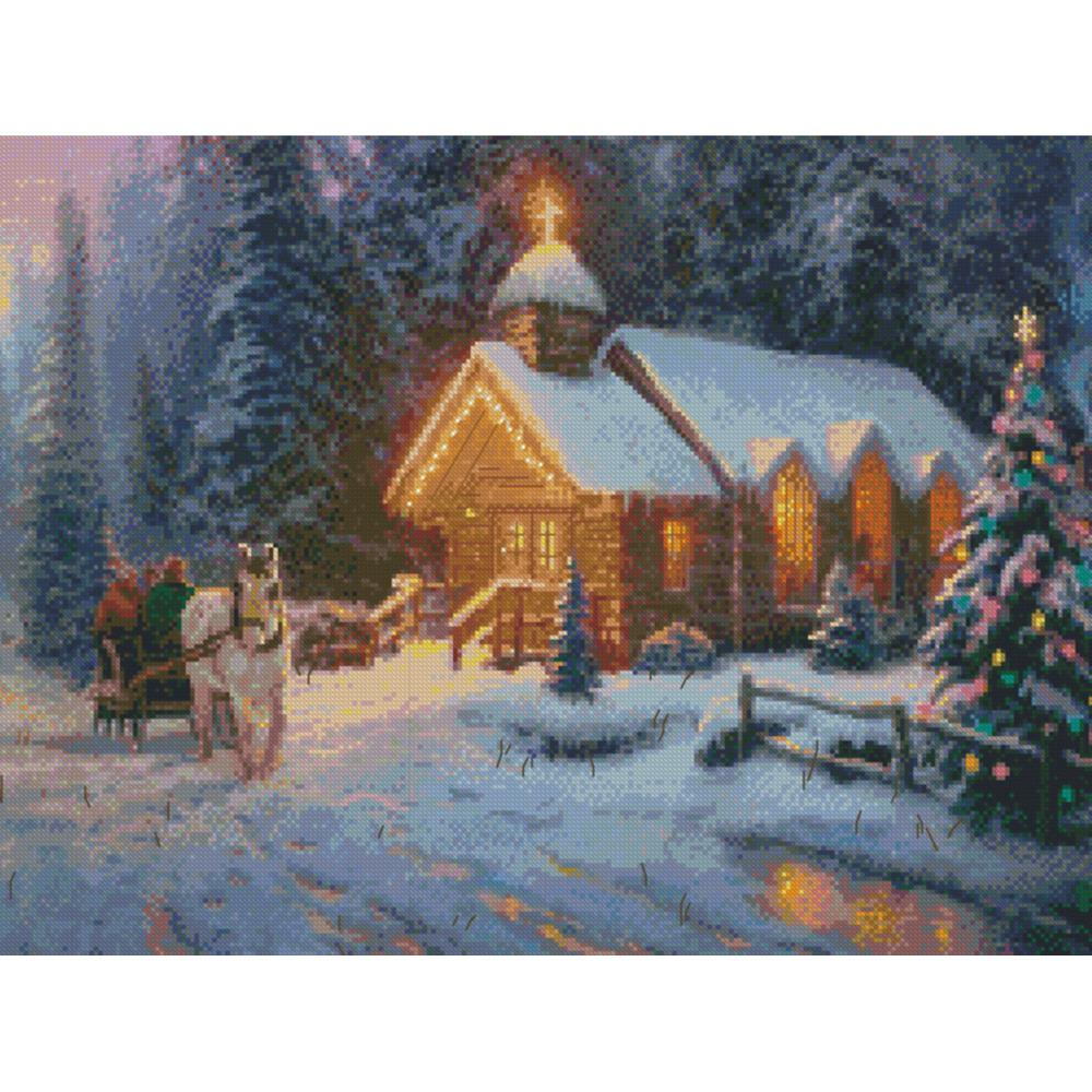 click here to view larger image of Christmas Chapel 1 (counted cross stitch kit)