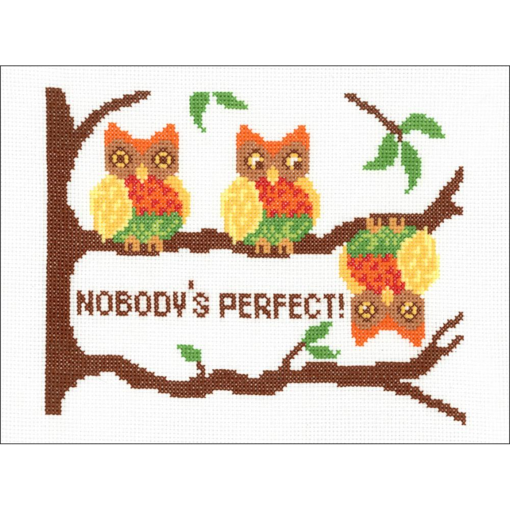 click here to view larger image of Nobodys Perfect (counted cross stitch kit)