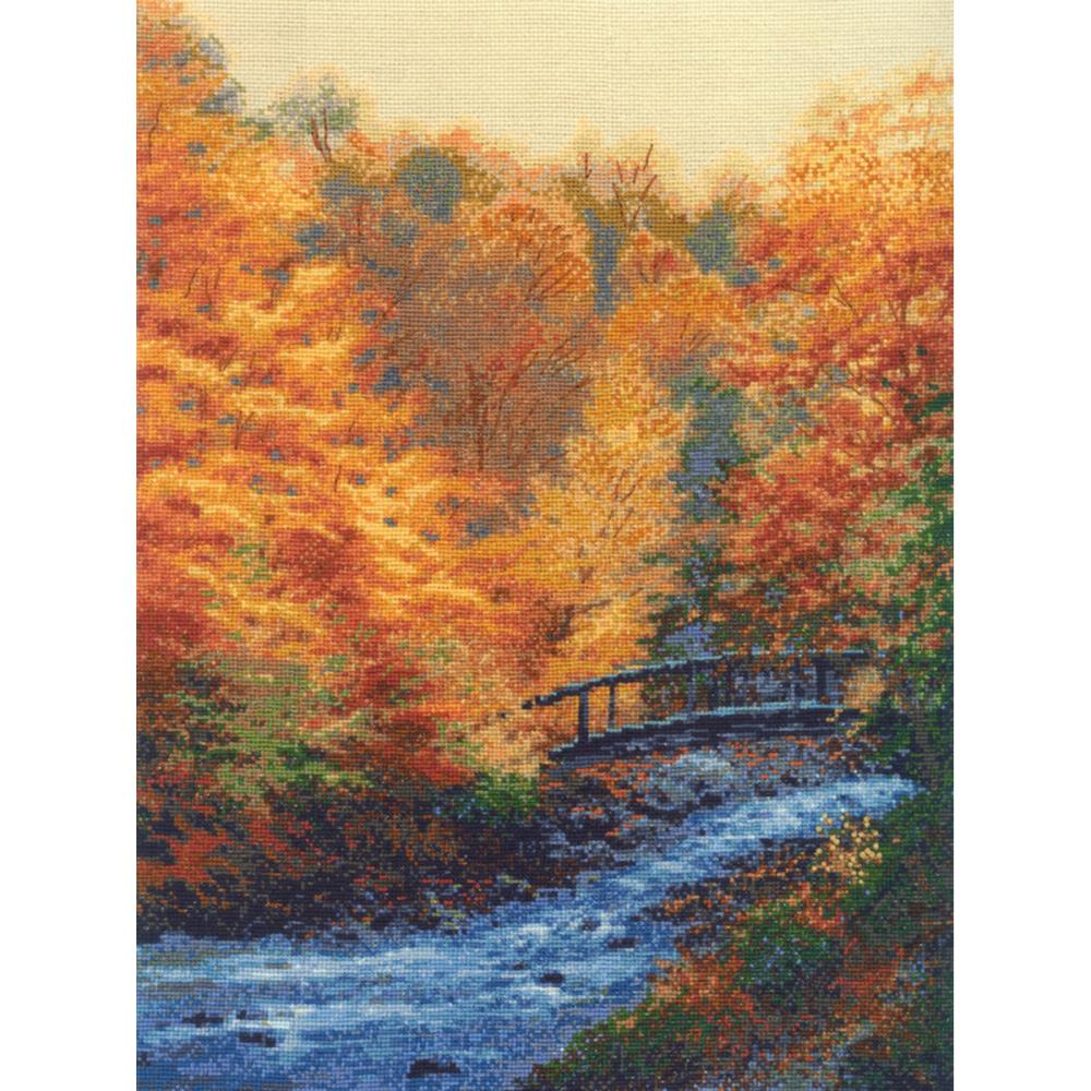 click here to view larger image of Autumn Stream (counted cross stitch kit)