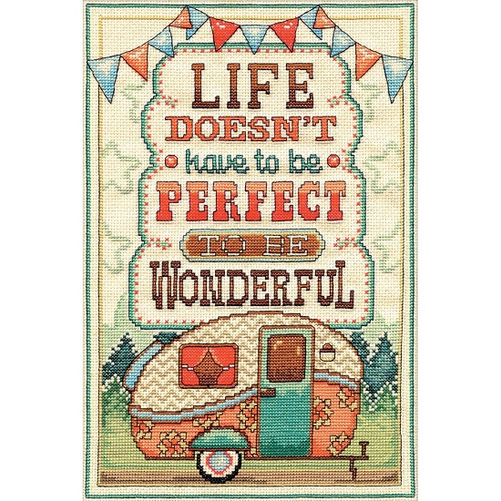 click here to view larger image of Life Is Wonderful (counted cross stitch kit)