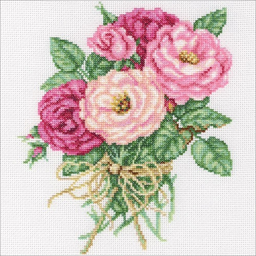 click here to view larger image of Rose Bouquet (counted cross stitch kit)