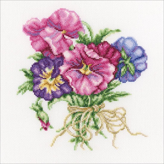 click here to view larger image of Violets Bouquet (counted cross stitch kit)
