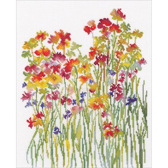 click here to view larger image of Flower Watercolour (counted cross stitch kit)