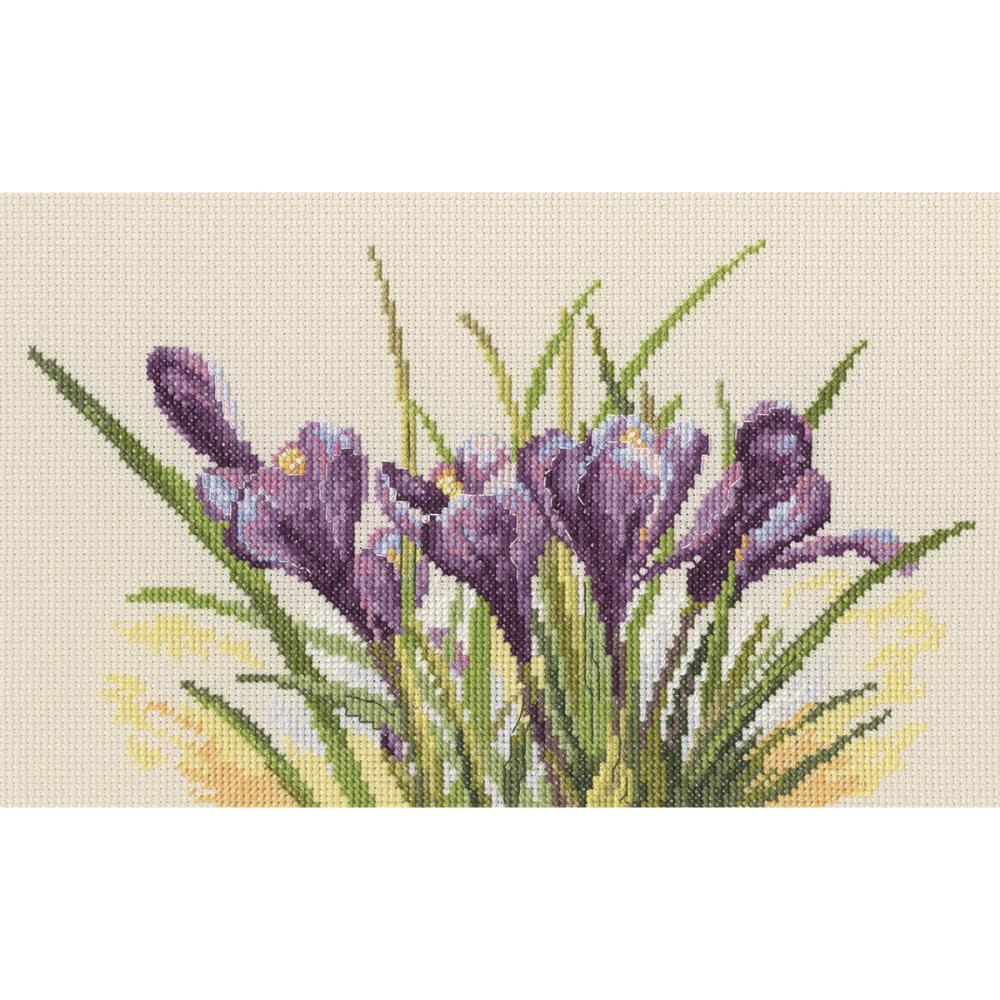 click here to view larger image of Spring Crocuses (counted cross stitch kit)
