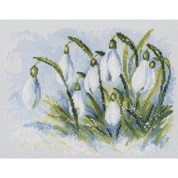 click here to view larger image of Early Snowdrops (counted cross stitch kit)