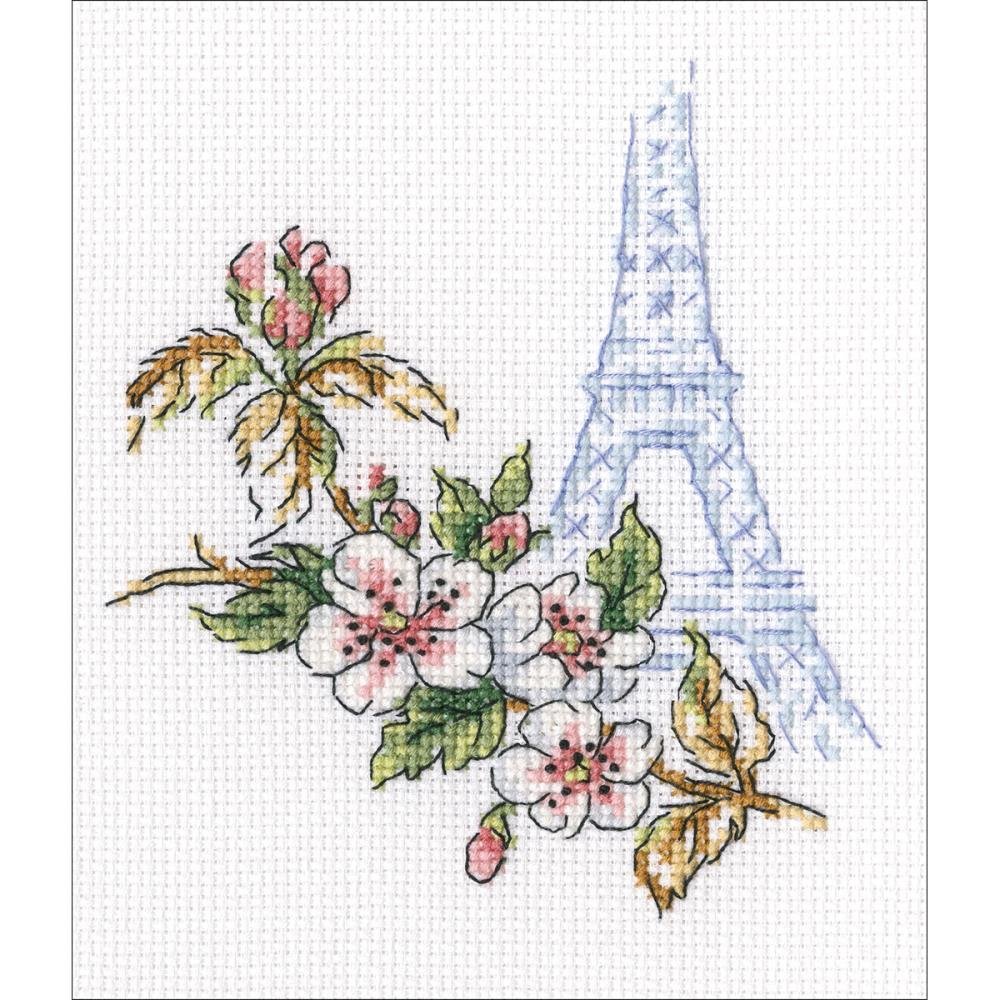 click here to view larger image of Window To Paris (counted cross stitch kit)
