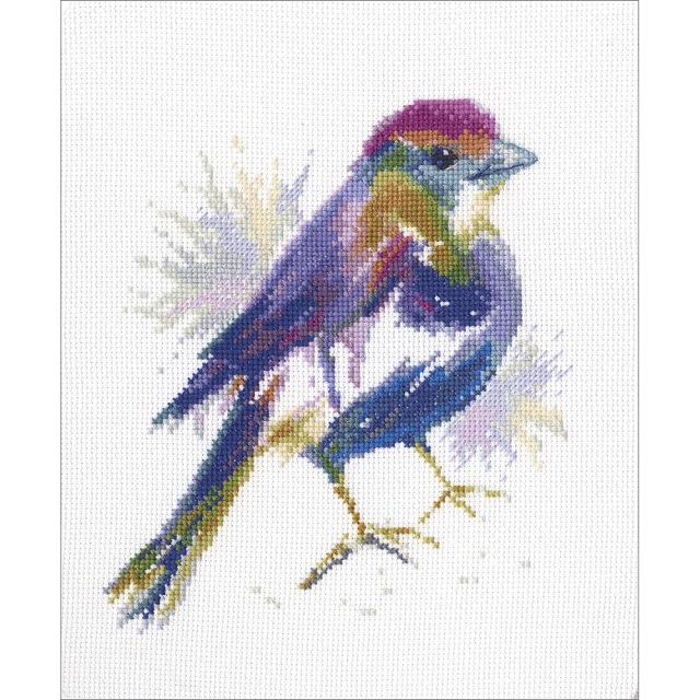 click here to view larger image of Blue Feather (counted cross stitch kit)