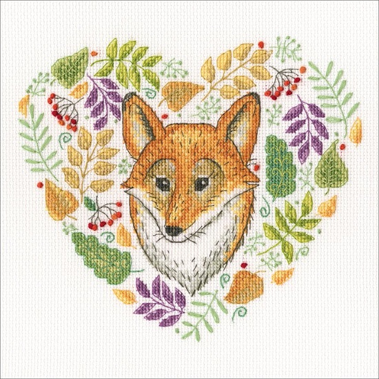 click here to view larger image of Forest Patterns (counted cross stitch kit)