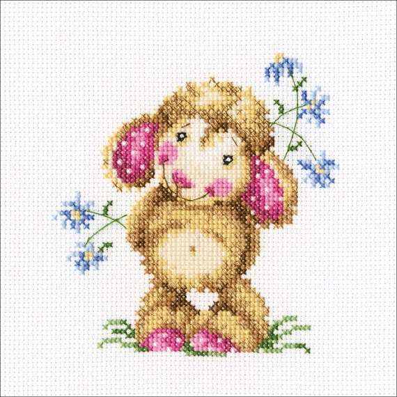 click here to view larger image of Daisies For A Gift (counted cross stitch kit)
