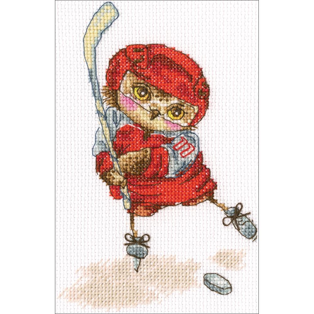 click here to view larger image of Shoot The Puck! (counted cross stitch kit)