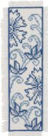 click here to view larger image of Blue Flower Bookmark (counted cross stitch kit)