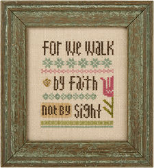 click here to view larger image of For We Walk By Faith - Snippet (chart)