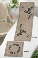 click here to view larger image of Black Roses Table Runner (Top) (counted cross stitch kit)