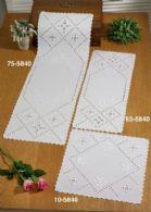 click here to view larger image of Hardanger Roses Table Runner (Upper Left) (Hardanger and Cut Work)