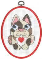 click here to view larger image of Dog - My First Kit (counted cross stitch kit)