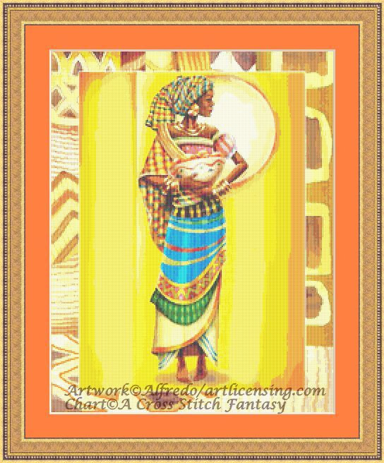 click here to view larger image of African Woman (chart)
