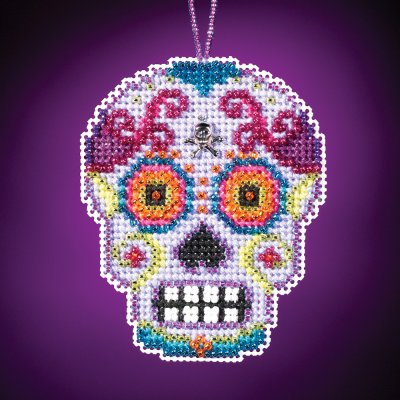 click here to view larger image of Morado - Calavera Charmed Ornament (counted cross stitch kit)
