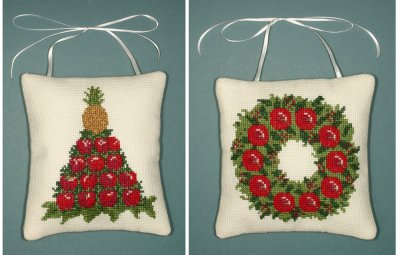 click here to view larger image of Colonial Christmas Ornaments (counted cross stitch kit)