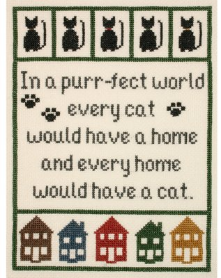 click here to view larger image of Cat Lovers Sampler (counted cross stitch kit)