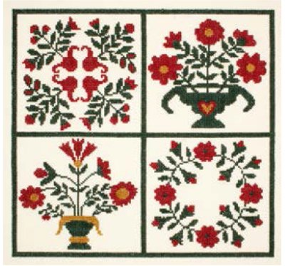 click here to view larger image of Baltimore Album Quilt Sampler (counted cross stitch kit)