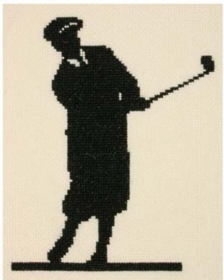 click here to view larger image of Classic Golfer, The (counted cross stitch kit)