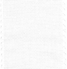 click here to view larger image of White With Scalloped  Border Cotton Banding - 16ct (Banding)