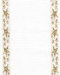 click here to view larger image of White With Metallic Gold Star Border Cotton Banding - 14ct (Banding)