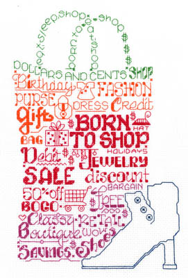 click here to view larger image of Lets Shop Til We Drop - Kit (counted cross stitch kit)