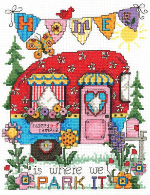 click here to view larger image of Happy Camper - Kit (counted cross stitch kit)
