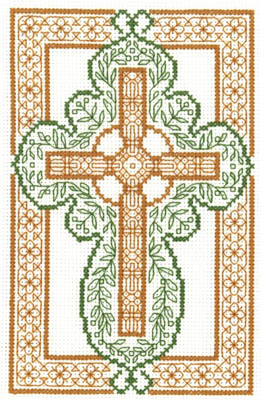 click here to view larger image of Celtic Cross - Kit (counted cross stitch kit)