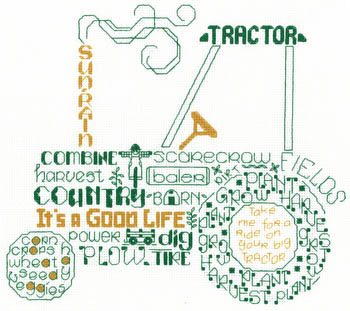 click here to view larger image of Lets Tractor - Kit (counted cross stitch kit)