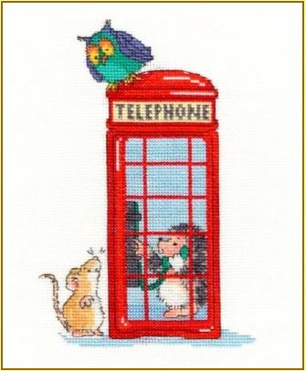 click here to view larger image of London Calling (counted cross stitch kit)