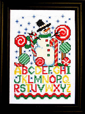 click here to view larger image of Candy Snowman (chart)