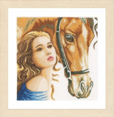click here to view larger image of Woman and Horse (counted cross stitch kit)