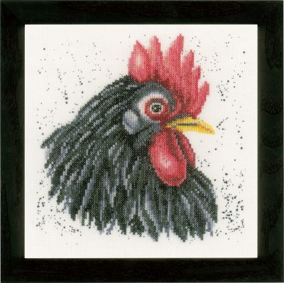 click here to view larger image of Black Rooster (counted cross stitch kit)