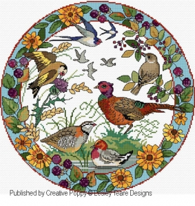 click here to view larger image of Autumn Bird Plate (chart)