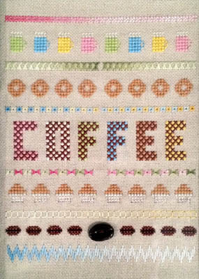 click here to view larger image of Coffee Sampler (counted cross stitch kit)