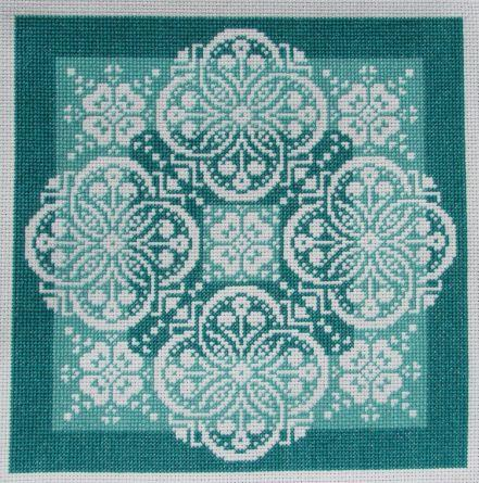 click here to view larger image of Lace Traces - Shades Of Jade (chart)